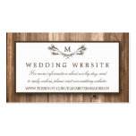 Country Rustic Monogram Branch & Wood Wedding Pack Of Standard Business Cards