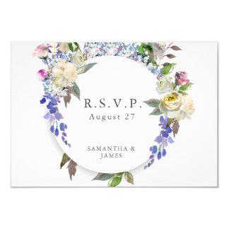 Country Rustic Peony Wedding RSVP Card