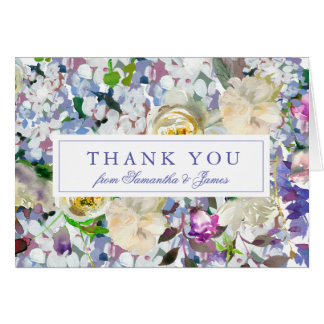 Country Rustic Peony Wedding Thank You Card