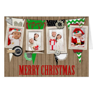 Country Rustic Photo Christmas Card