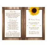 Country Rustic Sunflower & Brown Wood Wedding 21.5 Cm X 28 Cm Flyer