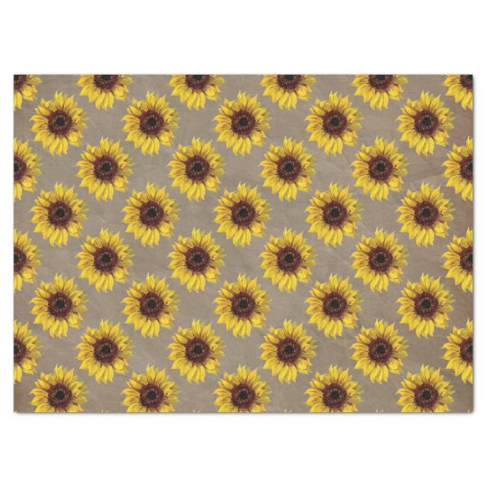 Country Rustic Sunflower Wedding Gift Wrap Tissue Tissue