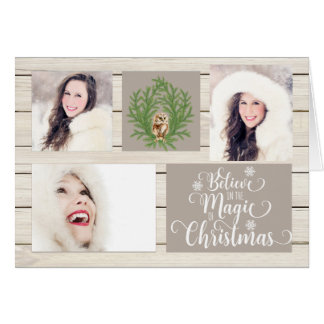 Country Rustic Wood Photo Christmas Card