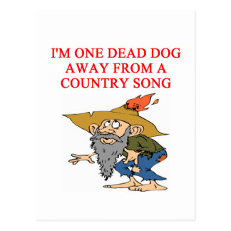 COUNTRY sad song Postcard