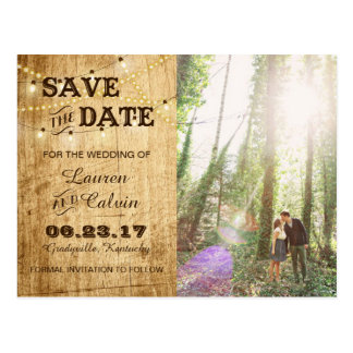 Country Save the Date Card for your Rustic Wedding