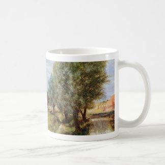Country Scene - Adolph Menzel Basic White Mug