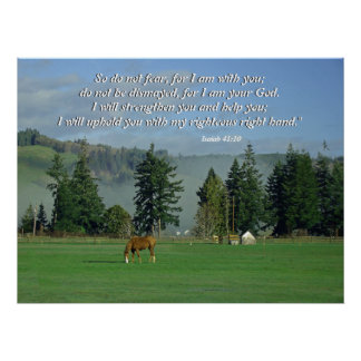 Country Scene Isaiah 41:10 Print