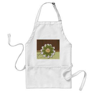 Country Scrapbook Flower Standard Apron