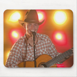 Country singer mouse pad