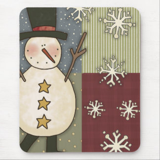 Country Snowman Mouse Mat