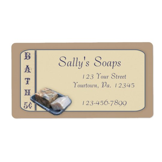 Country Soap Business Label