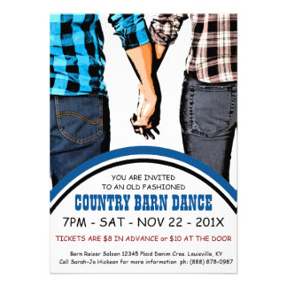 Country Square Dance Advertisement Announcements