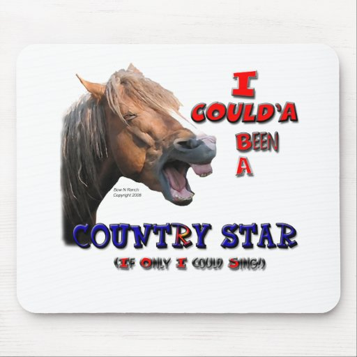 Country Star Funny Horse Mouse Mat