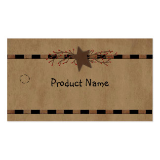 Country Star Hang Tag Business Card Template