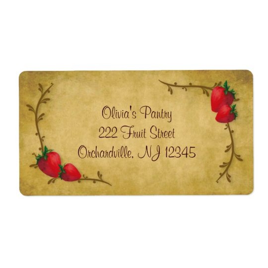 Country Strawberries Business Label Shipping Label