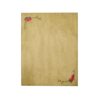 Country Strawberries Large Notepad