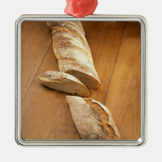 Country-style baguette For use in USA only.) Silver-Colored Square Decoration