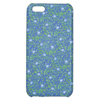 Country-style Blue Green Floral Periwinkle Pattern Cover For iPhone 5C