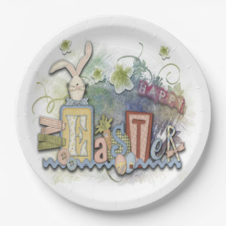 Country Style Easter Paper Plate