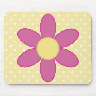 Country Style Flowers Mouse Mat