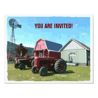 Country Style Get Together 11 Cm X 14 Cm Invitation Card