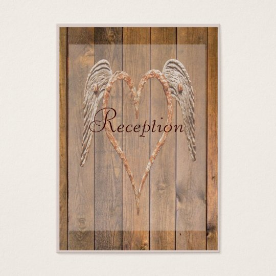 Country Style Rustic Angel Wings Wedding Business Card