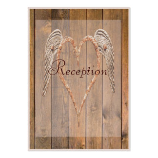 Country Style Rustic Angel Wings Wedding Pack Of Chubby Business Cards