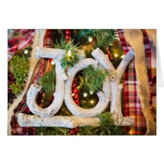 "Country Styled Christmas Card, ""Joy"" Card"