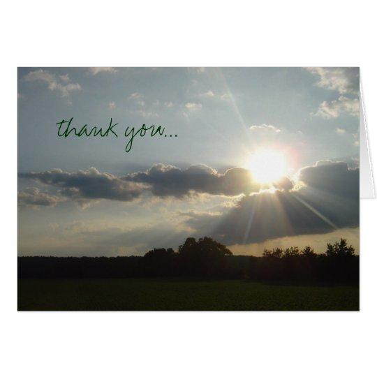 'Country Sunburst' thank you photo notecard