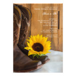 Country Sunflower Bridal Shower Invitation