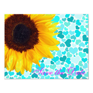 Country Sunflower Hearts Bride / House-of-Grosch 11 Cm X 14 Cm Invitation Card