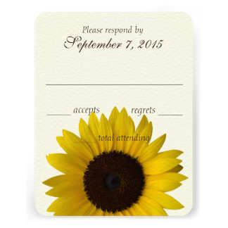Country Sunflower Response Card