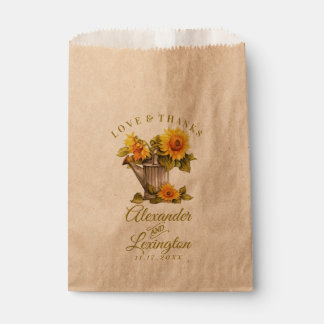 Country Sunflower Themed Wedding Favor Bag |