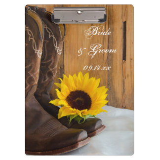 Country Sunflower Wedding Planning Clipboard