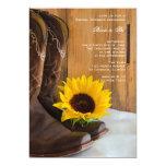Country Sunflower Western Bridal Shower 13 Cm X 18 Cm Invitation Card