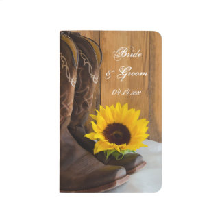 Country Sunflower Western Wedding Checklist Journal