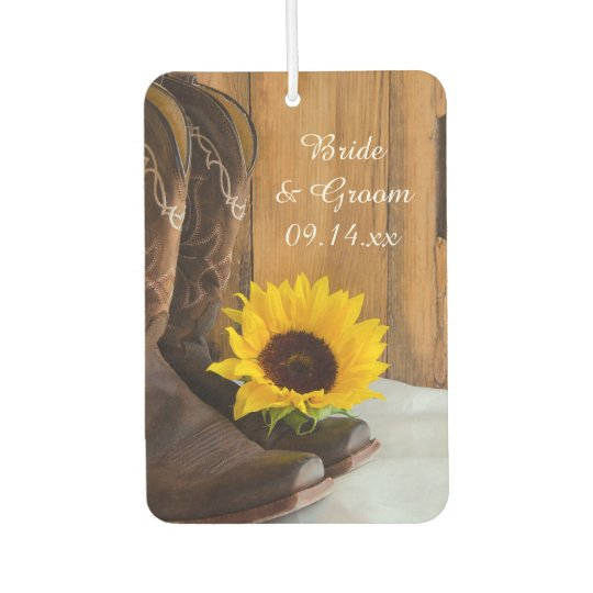 Country Sunflower Western Wedding Favours Car Air Freshener