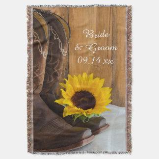 Country Sunflower Western Wedding Keepsake