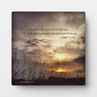 Country Sunrise Nature Art Photo and Bible Verse Plaque