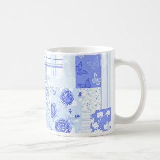 Country Sweet Cornflower Blue Basic White Mug