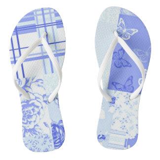 Country Sweet Cornflower Blue Flip Flops