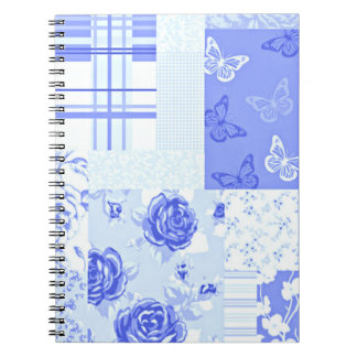 Country Sweet Cornflower Blue Notebook