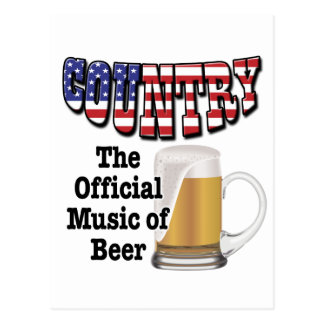 Country: The Official Music of Beer Post Cards