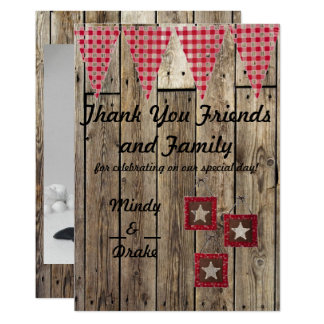 Country Theme Thank You Card