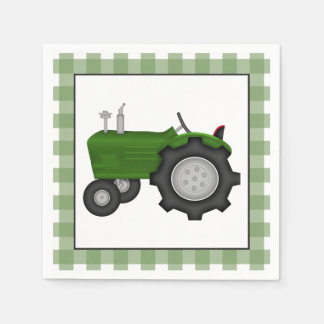 Country Tractor party paper napkins Standard Cocktail Napkin