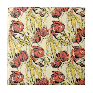 Country Tulips Tile