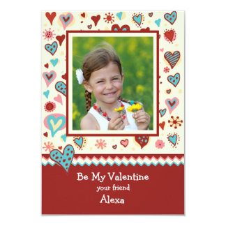 Country Valentine Photo Classroom Card 9 Cm X 13 Cm Invitation Card