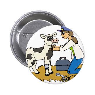 Country Vet 6 Cm Round Badge
