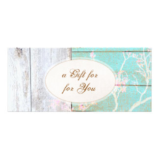 Country Vintage, Wood Boutique Gift Certificate Personalized Rack Card