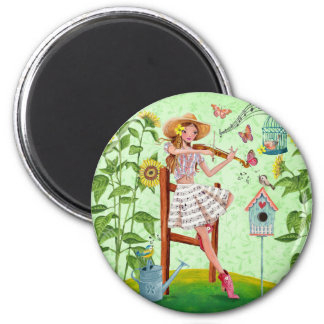 Country Violin Girl    Magnet